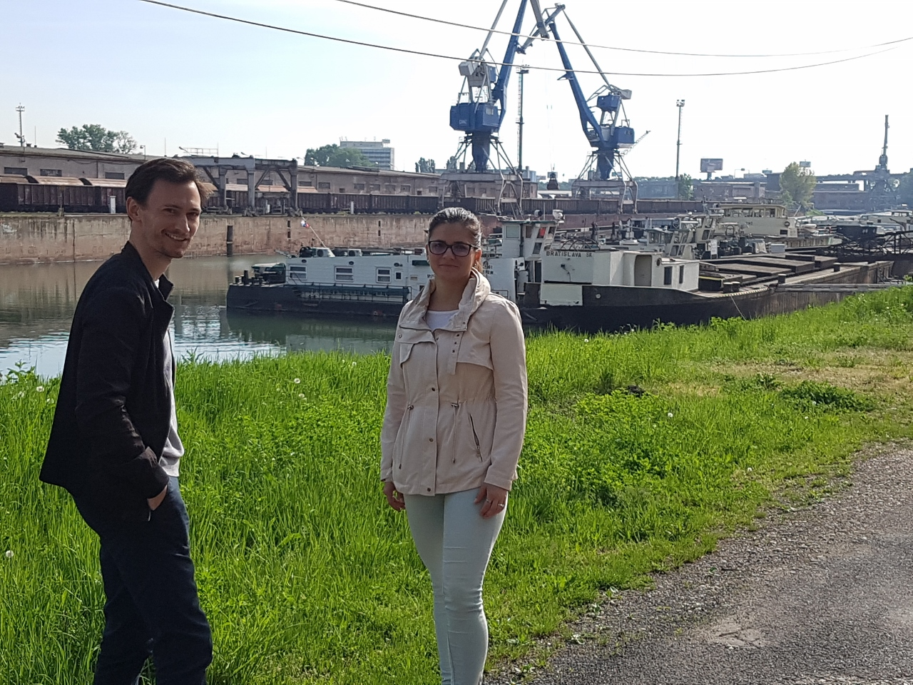 Martin Dubiny a Katka Mackovičová v prístave