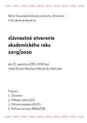 Slávnostné otvorenie akademického roka 2019/20