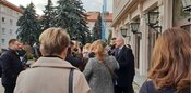 Rektor STU Redhammer kontroloval rekonštrukcie internátu Mladá Garda