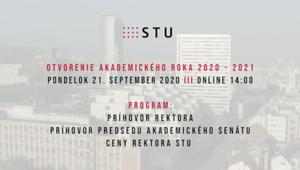 Otvorili sme nový akademický rok  2020/2021