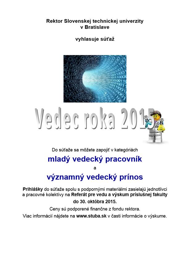 85ae46ccb8 Vedec roka STU 2015 - Slovenská technická univerzita v Bratislave (STU)