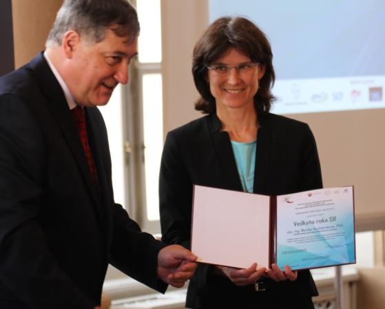 Vedkyňou SR je Monika Rychtáriková zo SvF STU