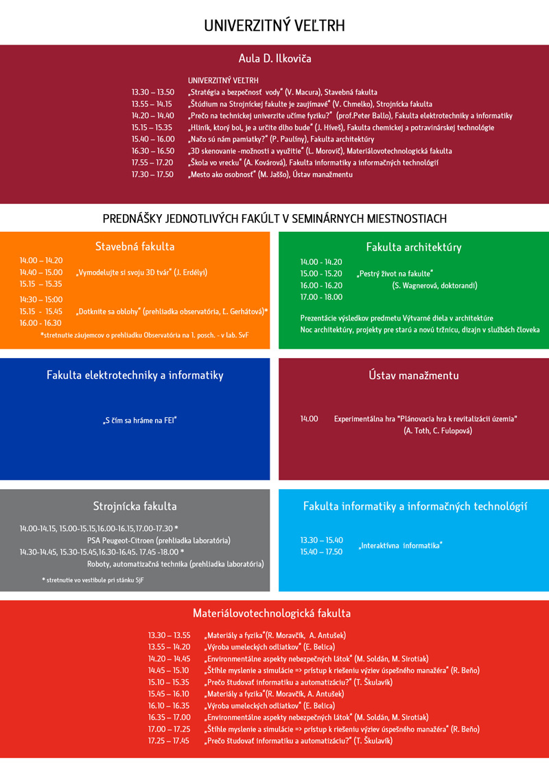 program univerzitny veltrh 2014